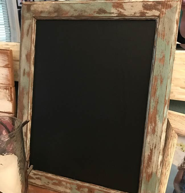 Easy DIY Rustic Chalkboard - Perfectly Inspired