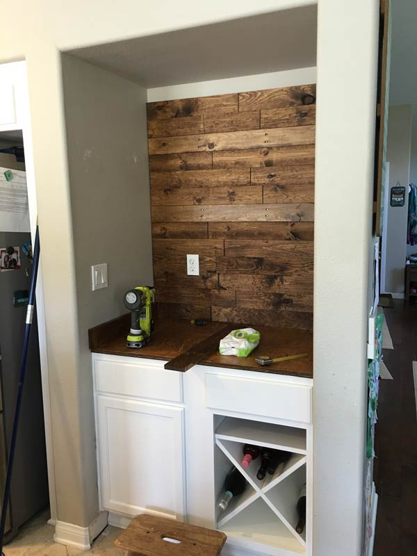 Installing wood wall