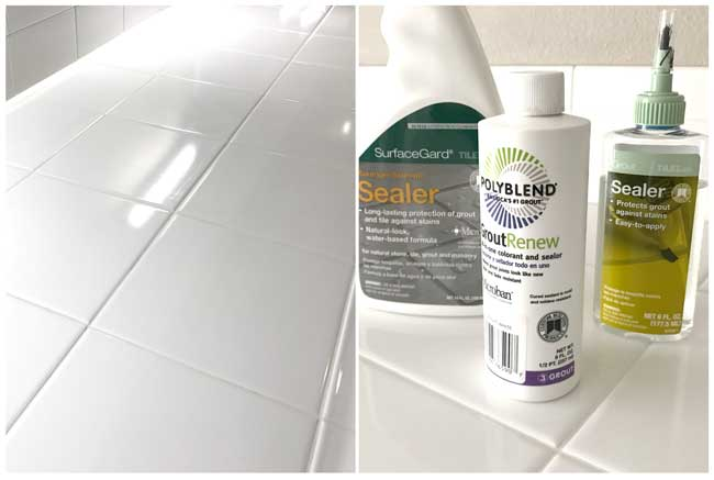 Clean and paint grout before selling your home